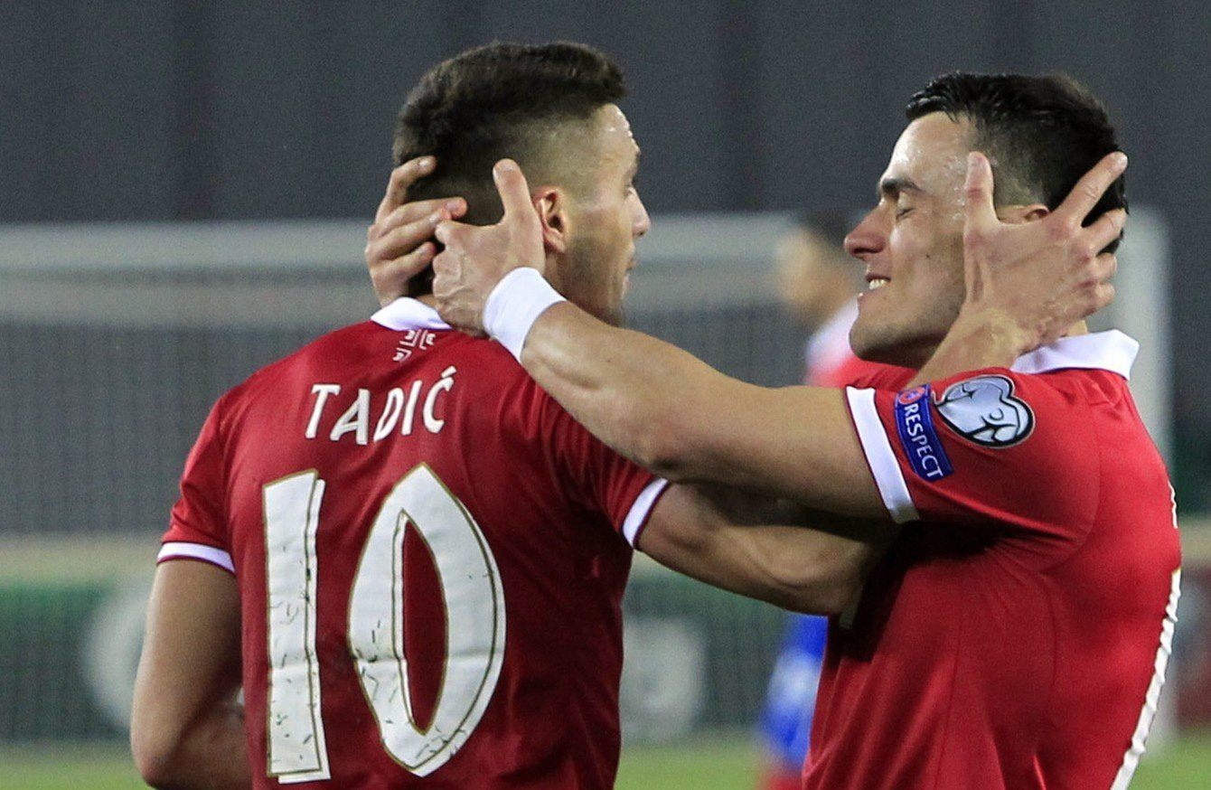 Футболисты сборной Сербии уступили навыезде команде Австрии вматче отбораЧМ