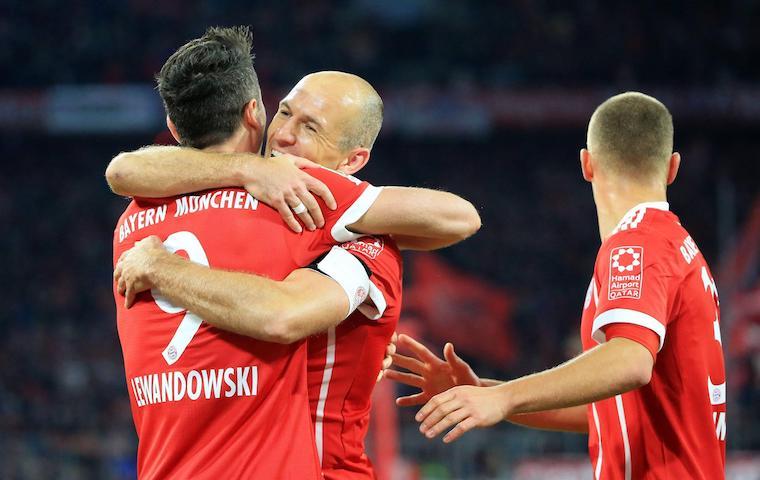 «Бавария» обыграла дортмундскую «Боруссию» вматче чемпионата Германии